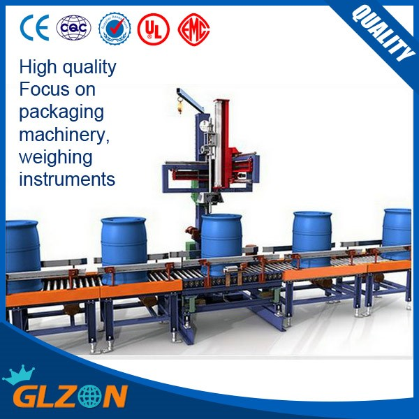 Automatic 200L plastic barrel filling line