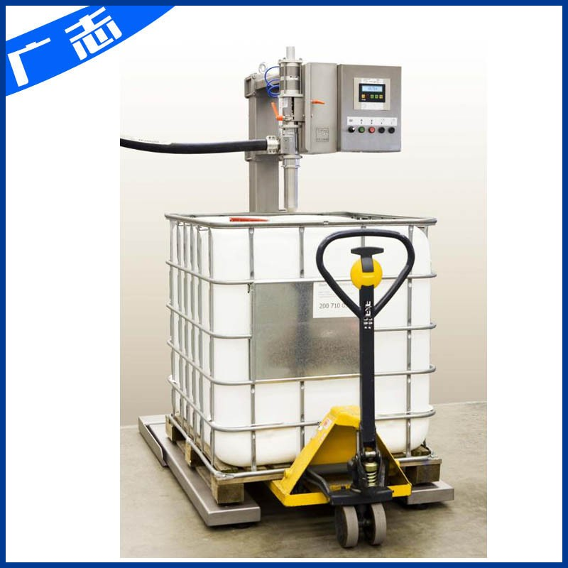 One ton IBC barrel solvent filling machine