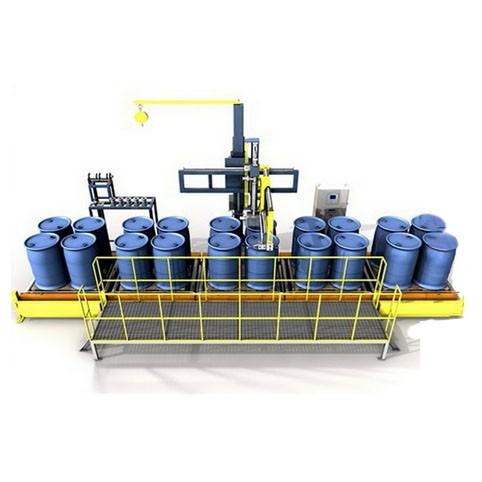 托盘式灌装机-摇臂式灌装机-四桶位灌装机