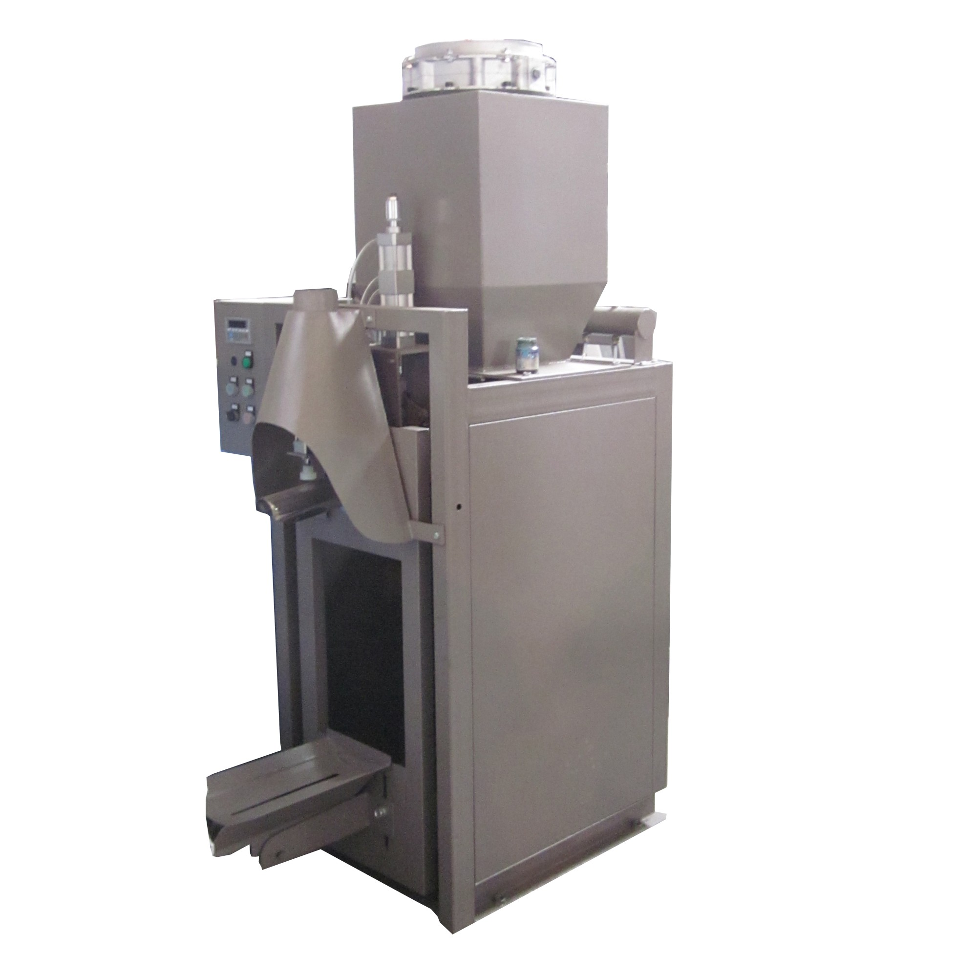 Air pressure valve bag packing machine with big storage bin