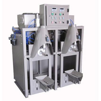 Dual nozzle pneumatic dry mortar packaging machine