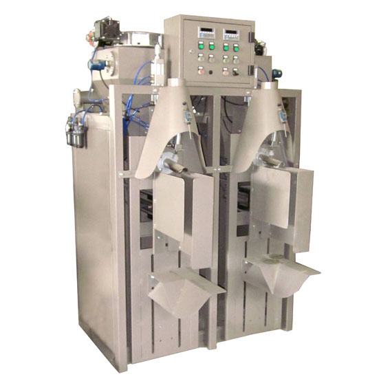 Dual nozzle dust proof dry mortar packaging machine