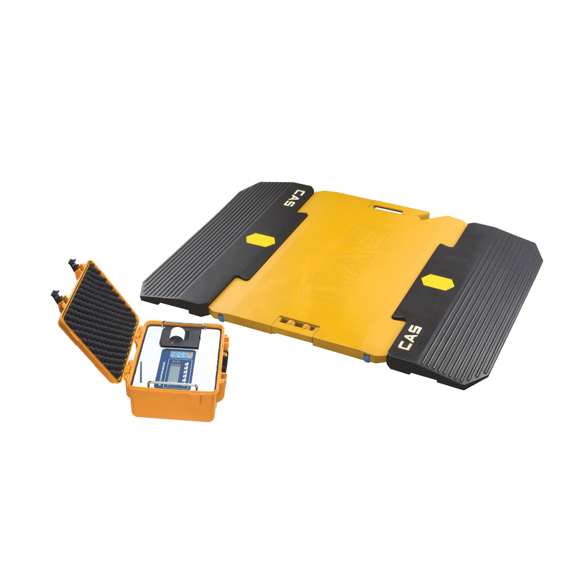 Easy carry 10 ton car weighing system