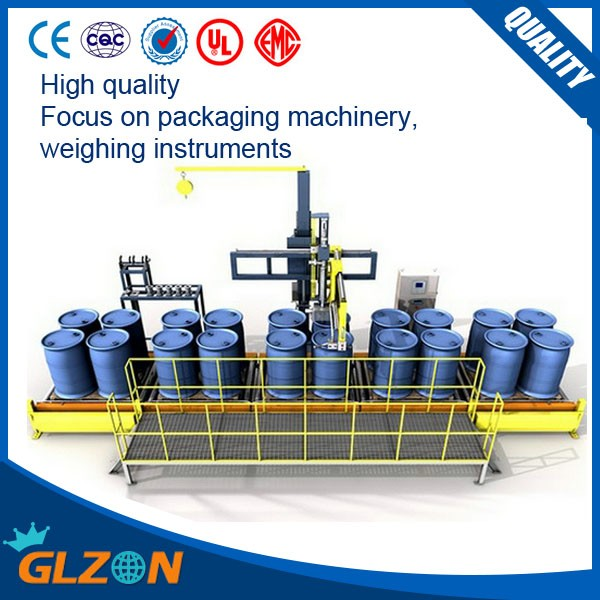 Full automatic 200kg oil drum filling line