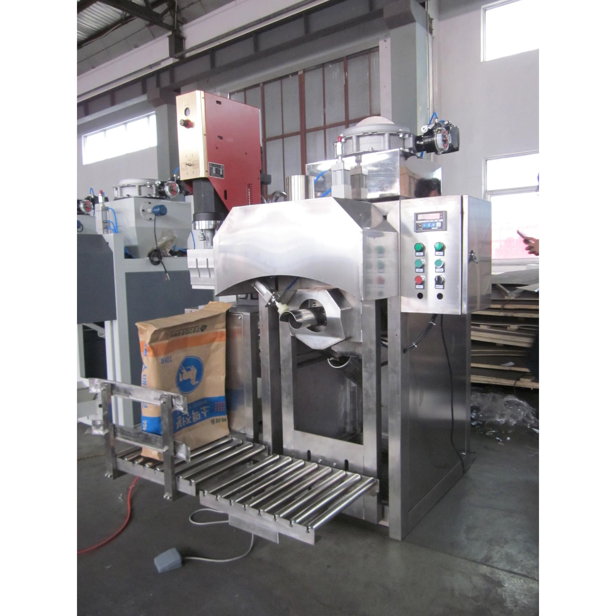 Pneumatic all stainless steel 25kg sugar valve bag filling machine manufacturer