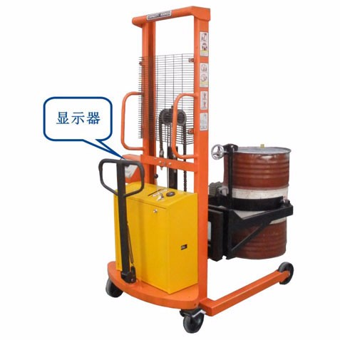 Electric lift drum filling scale