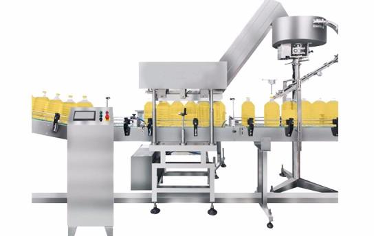 20升化工液体灌装生产线方桶堆码桶灌装机