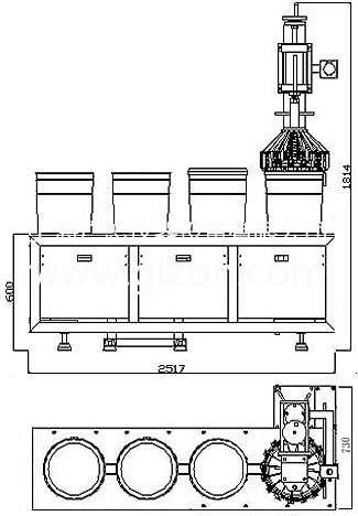 四头全自动灌装机适用于20-25L桶包装